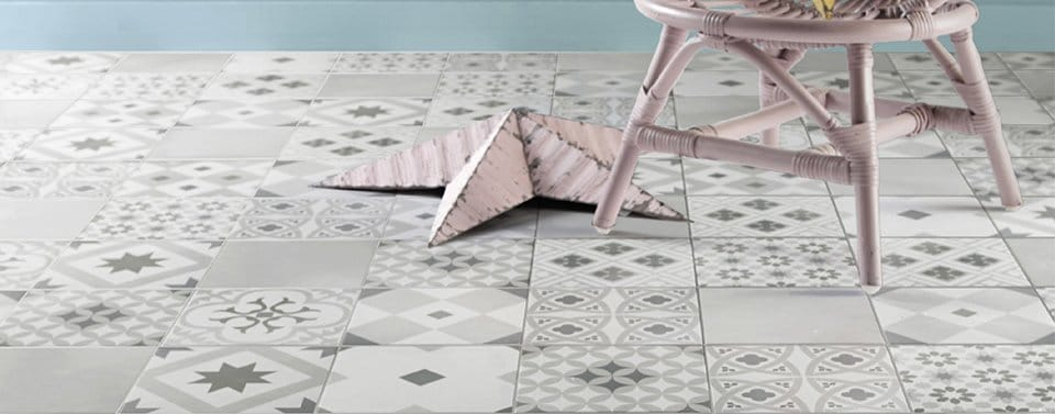 Les carreaux de ciment inspirent la d co petite lyonnaise - Dalle pvc imitation carreau de ciment ...