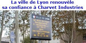 panneau d'affichage lumineux Charvet Industries à Lyon