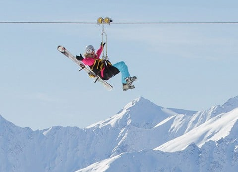 tyrolienne val thorens