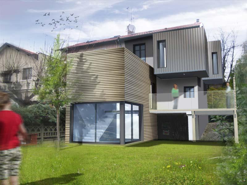 Projet d'extension contemporaine par l'agence d'architecture Ocube