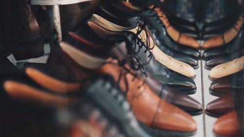 chaussures hommes en cuir noir et marron
